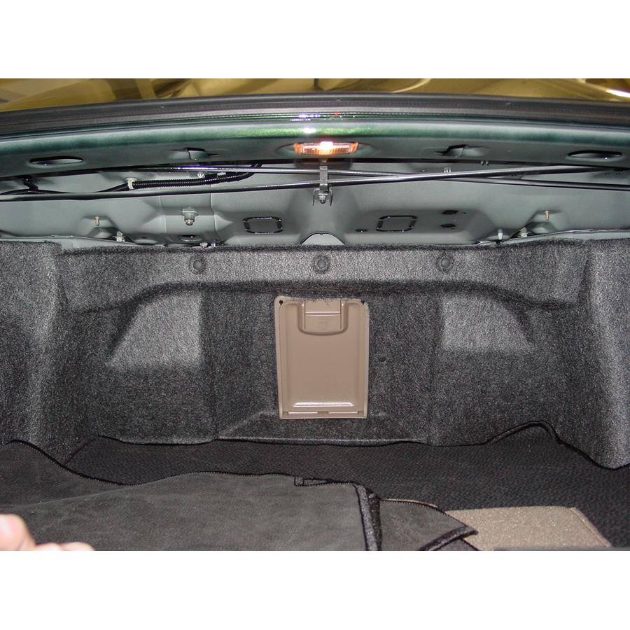 2004 Acura 3.5RL Factory amplifier location