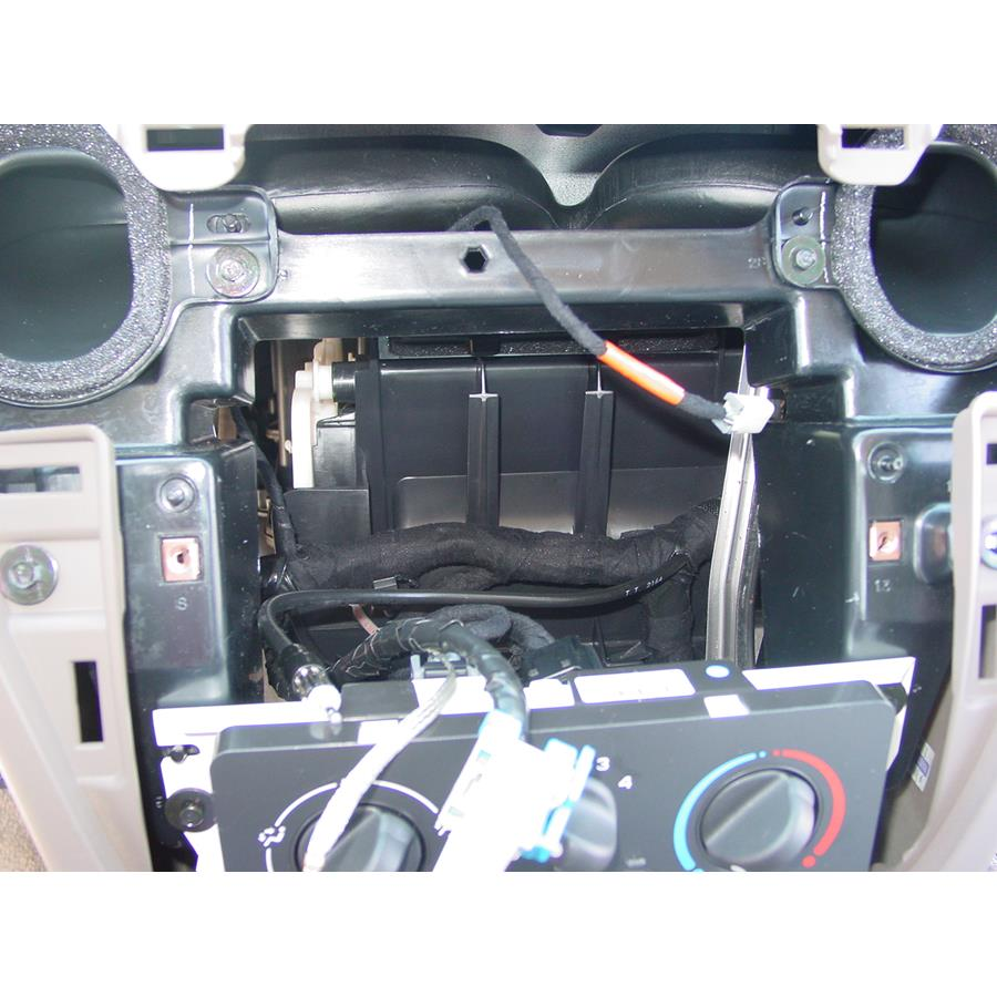 2005 Saturn Ion 1 Factory radio removed