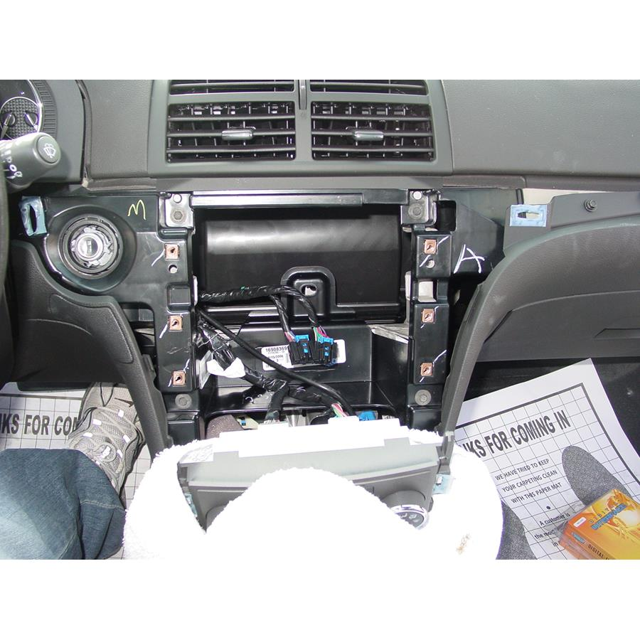 2009 Saturn Aura Factory radio removed