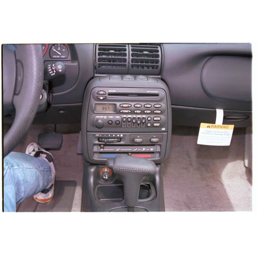 1998 Saturn SC1 Other factory radio option