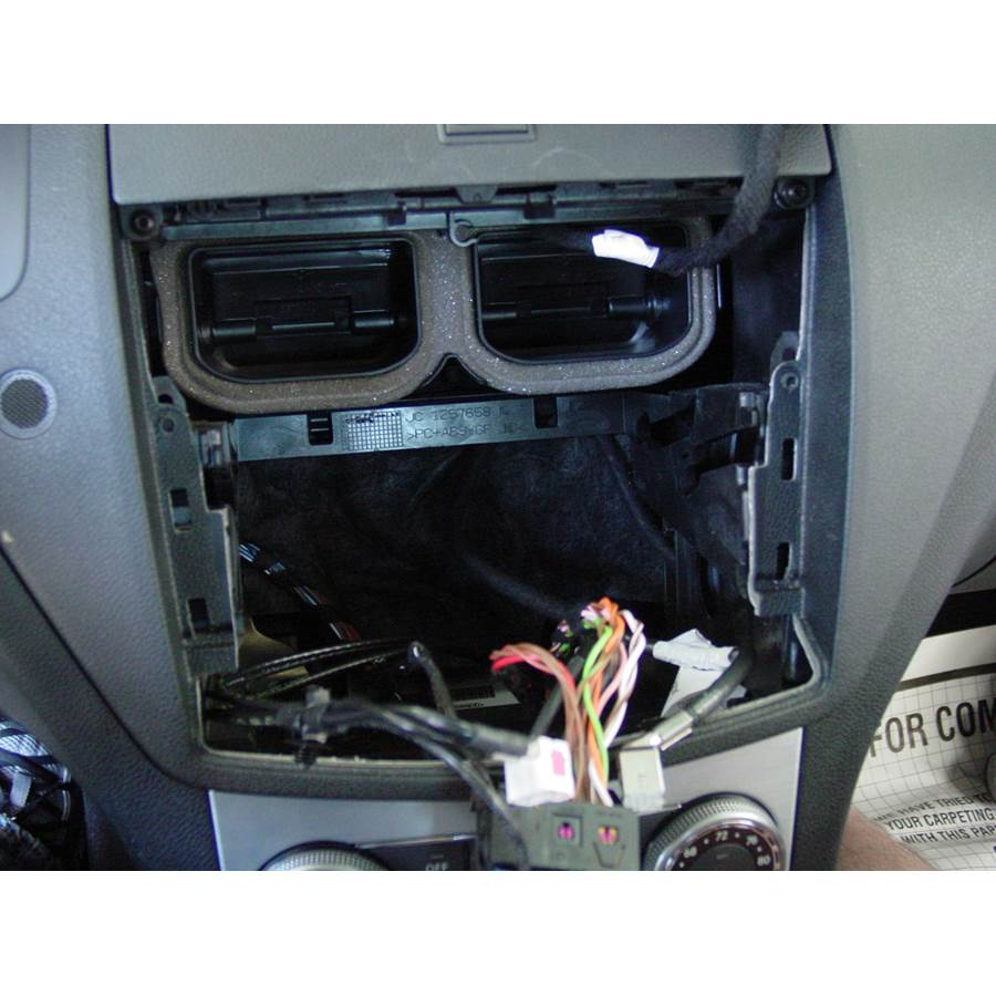 2008 Mercedes-Benz C-Class Factory radio removed