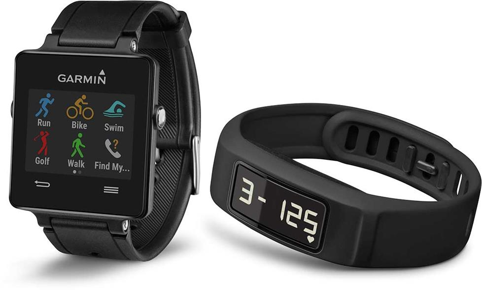 Garmin vivoactive GPS smartwatch and vivofit 2 activity tracker