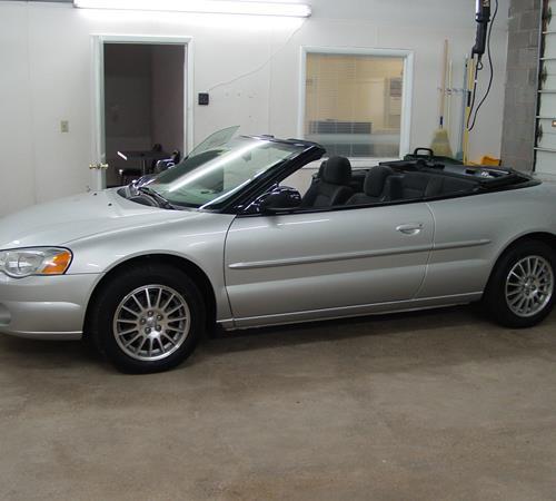 2005 chrysler sebring convertible rear window repair