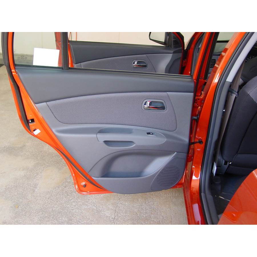 2006 Kia Rio 5 Rear door speaker location