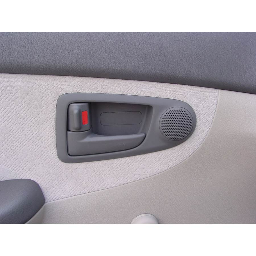 2008 Kia Spectra5 Front door tweeter location