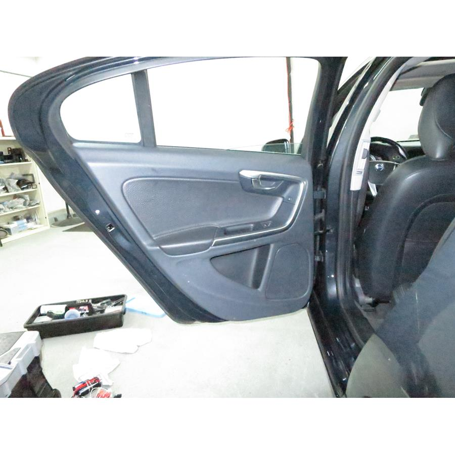 2015 Volvo S60 Rear door speaker location