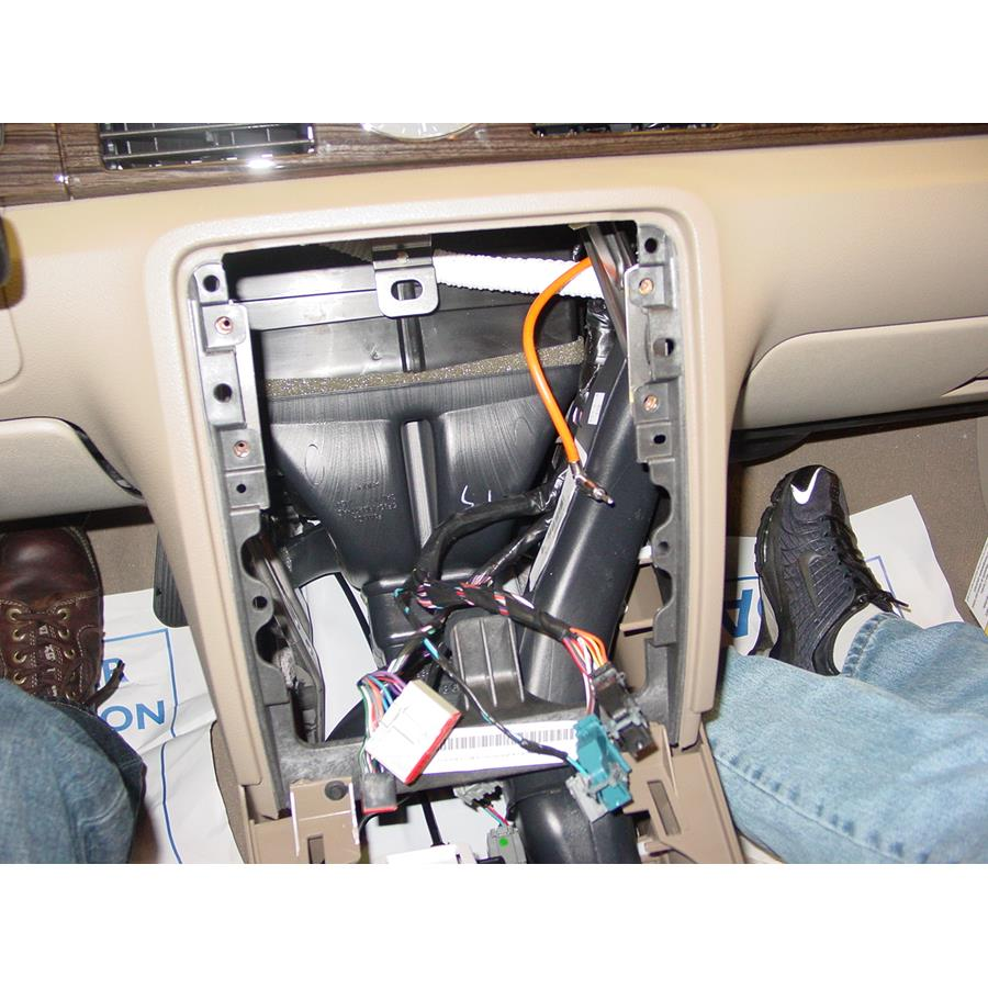 2009 Mercury Sable Factory radio removed