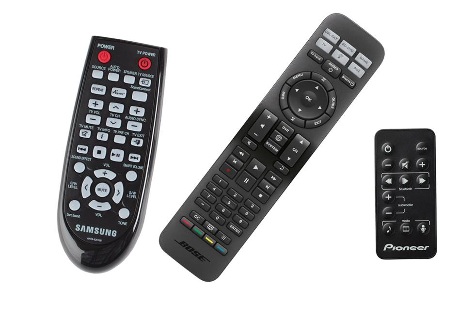 3 DIFFERENT TYPES OF SOUND BAR REMOTES