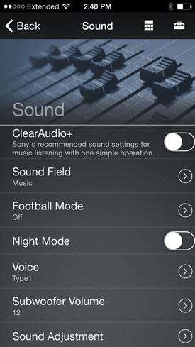 Soundbar app
