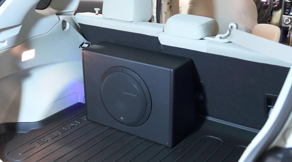 The Rockford Fosgate Punch P300-10 powered subwoofer
