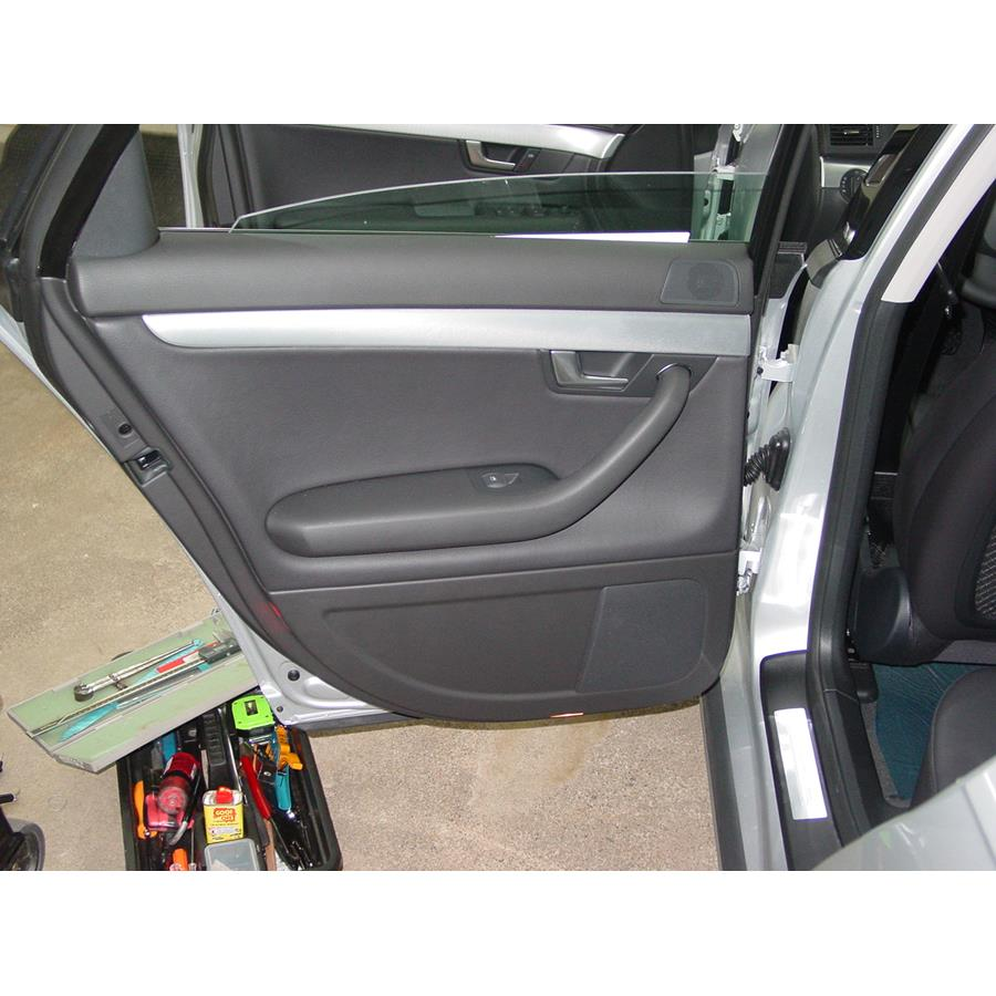 2008 Audi S4 Rear door speaker location