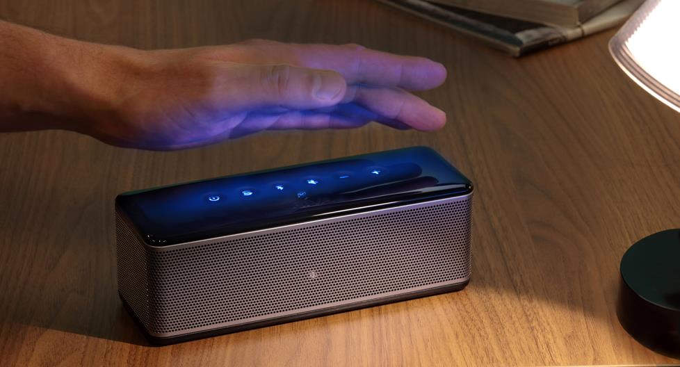 RIVA S Portable Bluetooth Speaker with illuminated buttons