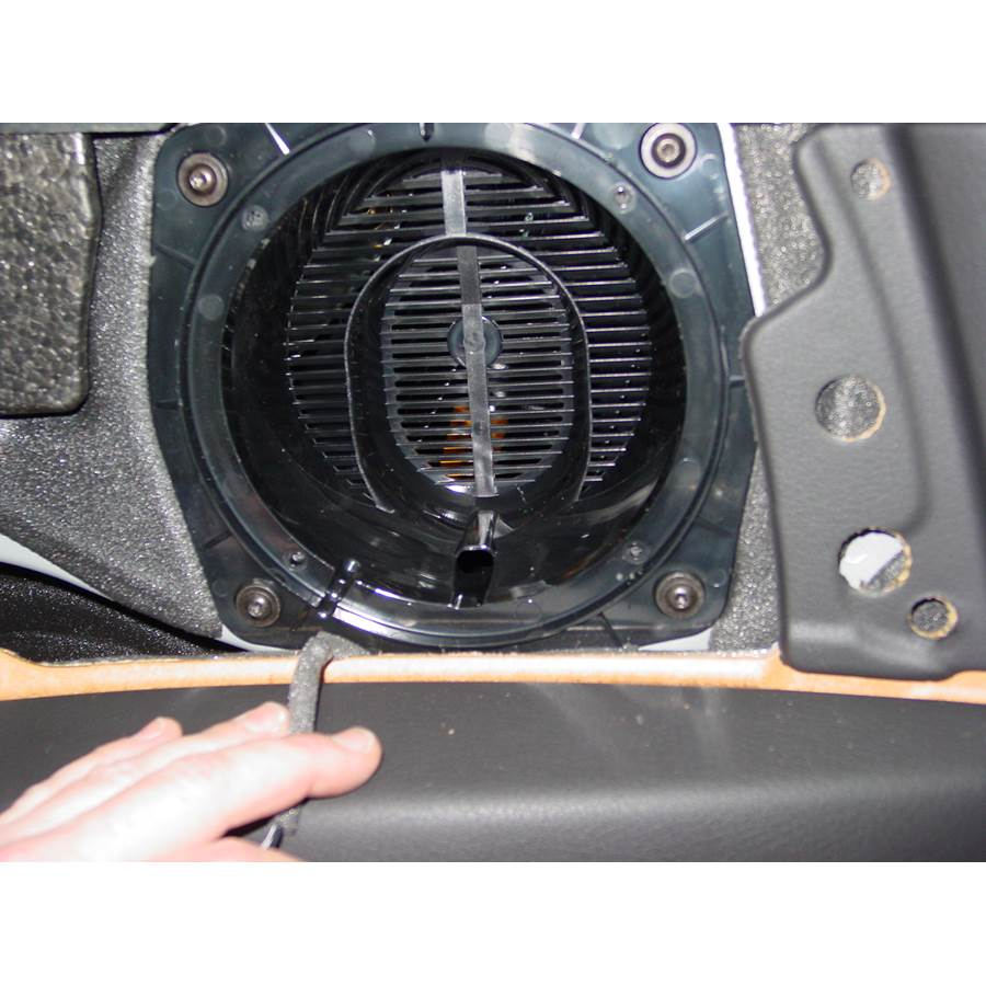2008 Audi S4 Rear side panel speaker removed