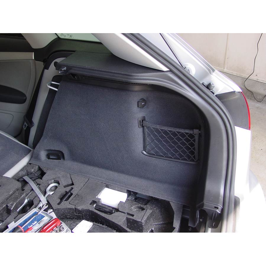 2006 Audi A3 Factory amplifier location