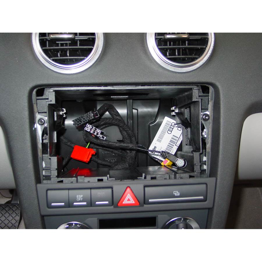 2006 Audi A3 Factory radio removed