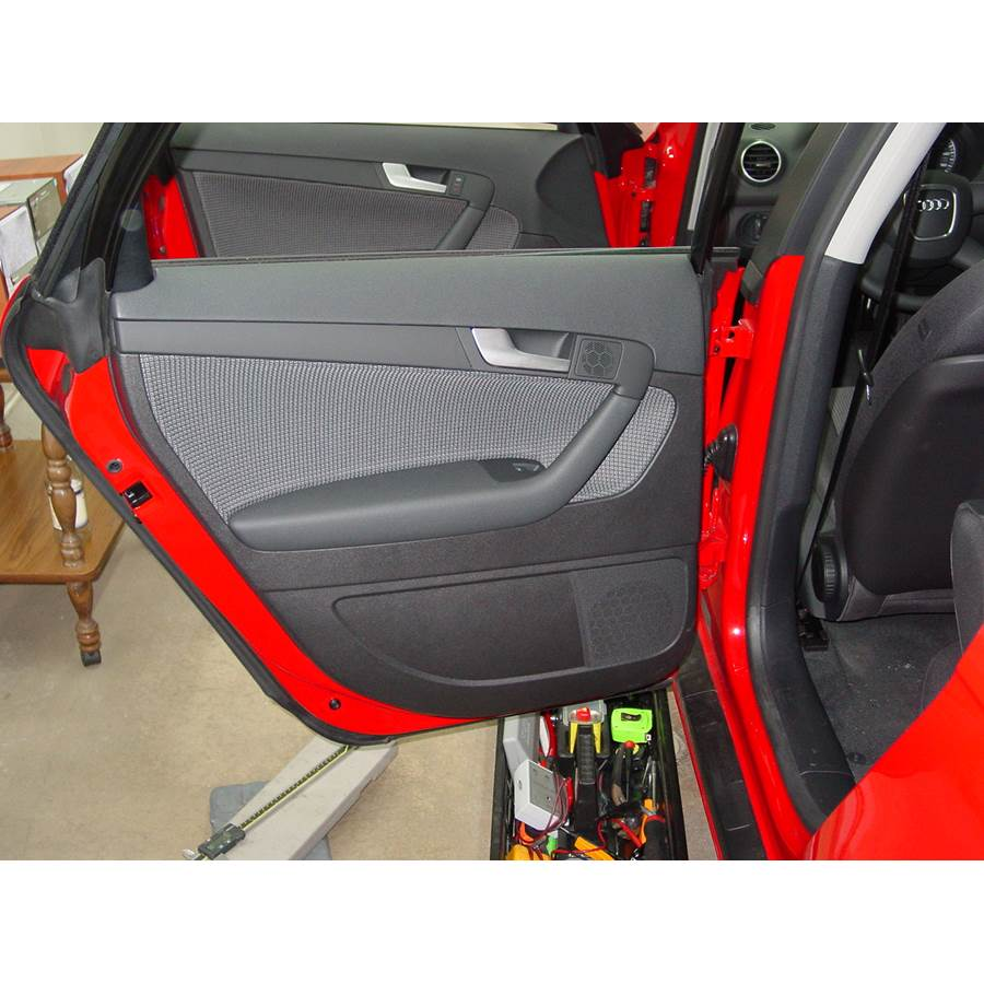 2006 Audi A3 Rear door speaker location
