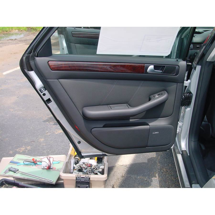 2002 Audi Allroad Quattro Rear door speaker location