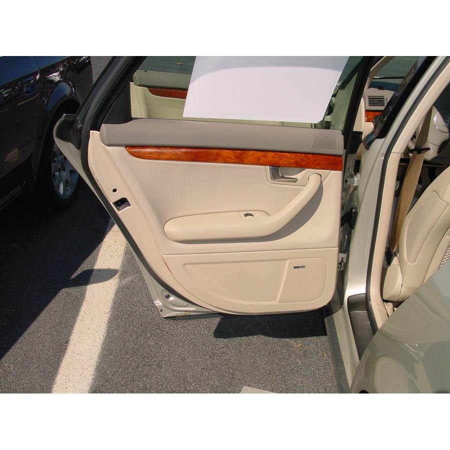 2004 Audi A4 Rear door speaker location