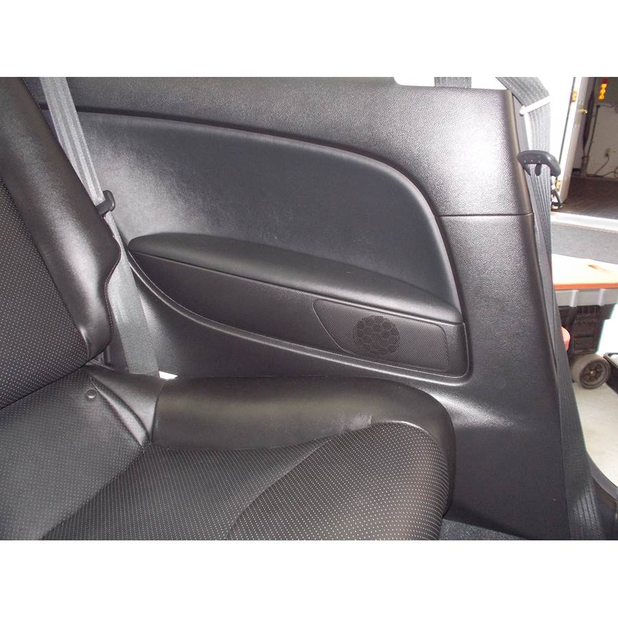 2011 Infiniti G Rear side panel speaker location
