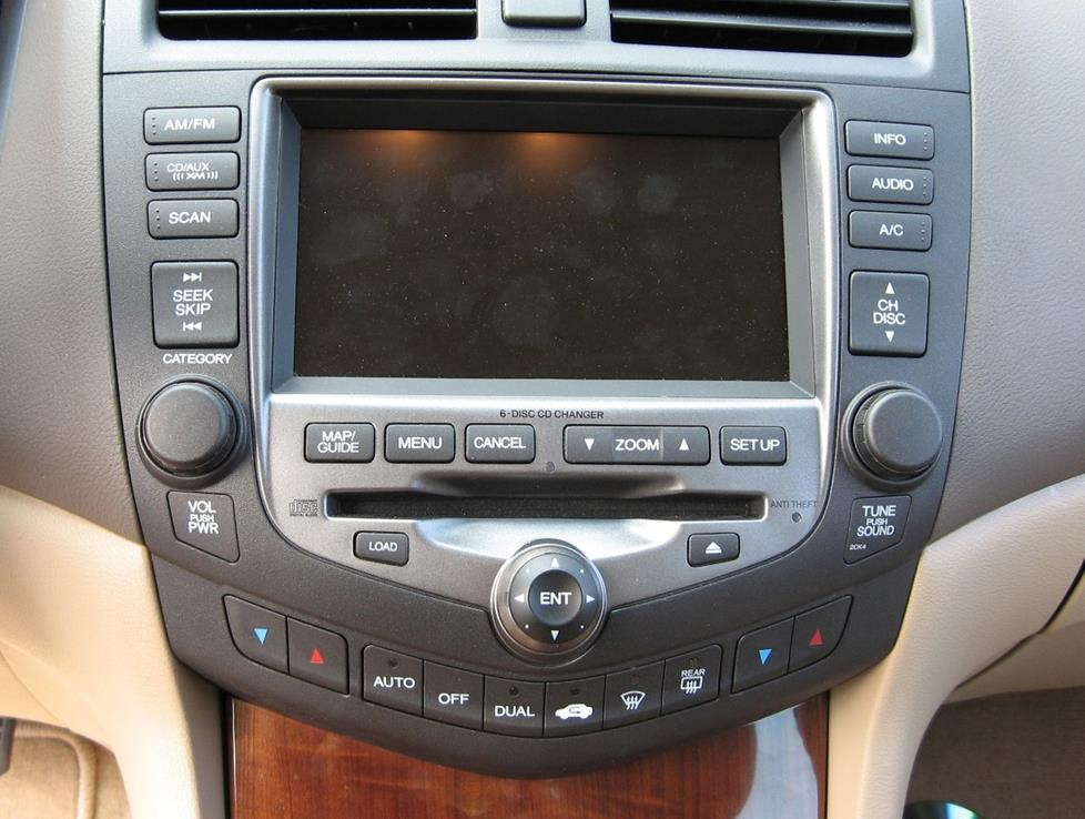 Accord Stereo With Navigation