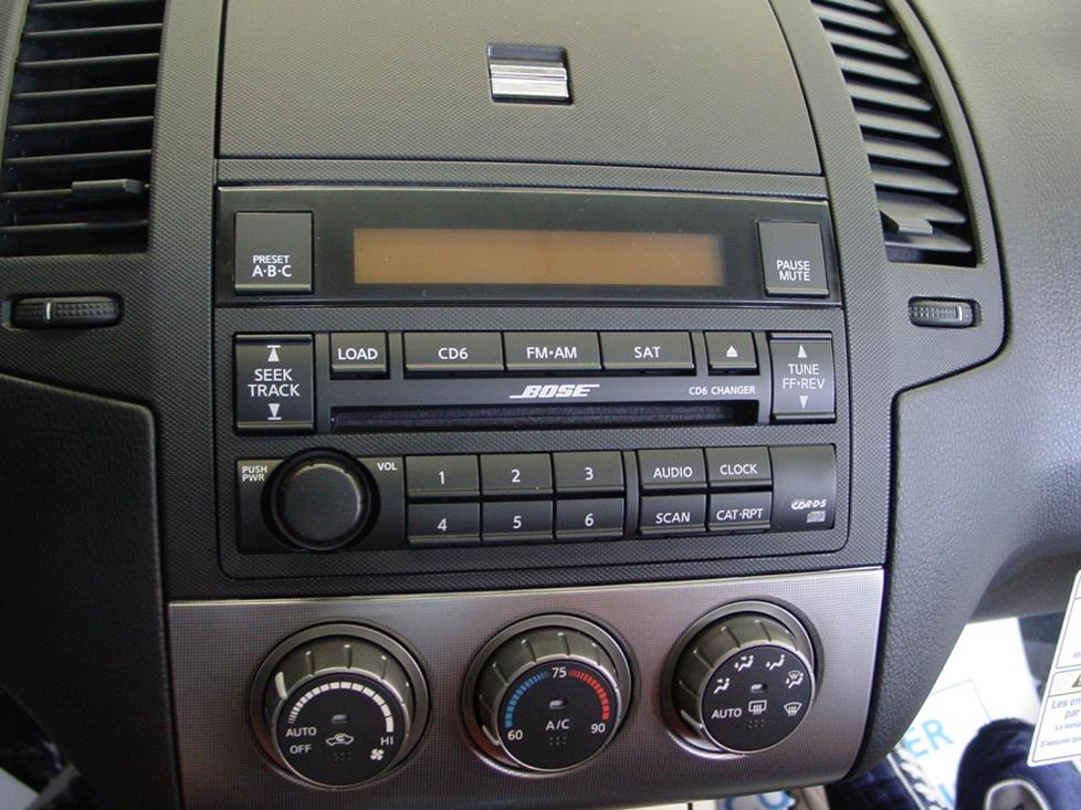 2005 2006 nissan altima car audio profilenissan altima factory radio
