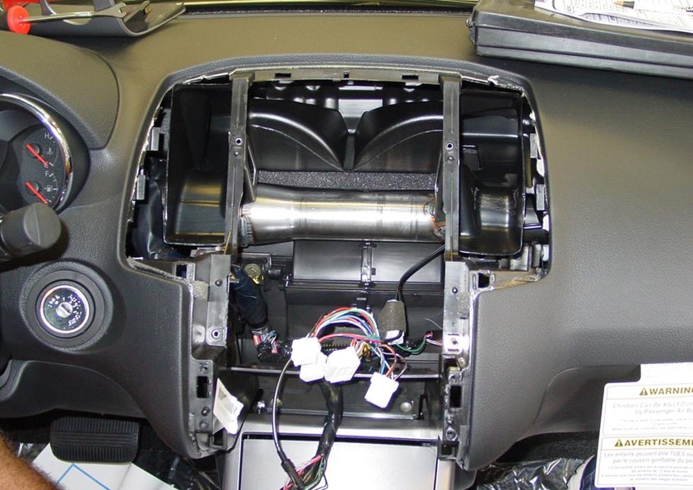 nissan altima dash disassembled