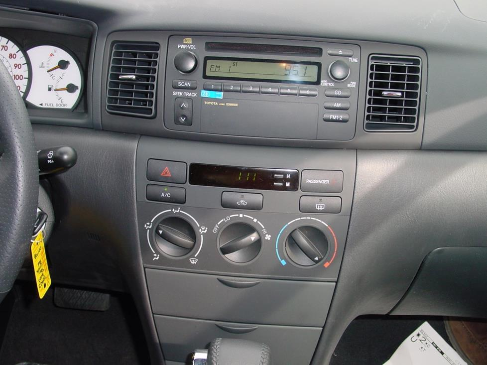 2003 2008 toyota corolla car audio profile. Black Bedroom Furniture Sets. Home Design Ideas