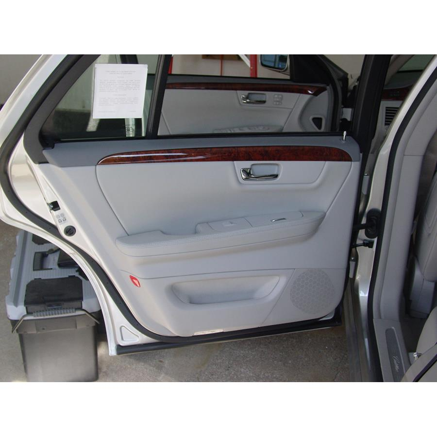 2011 Cadillac DTS Rear door speaker location