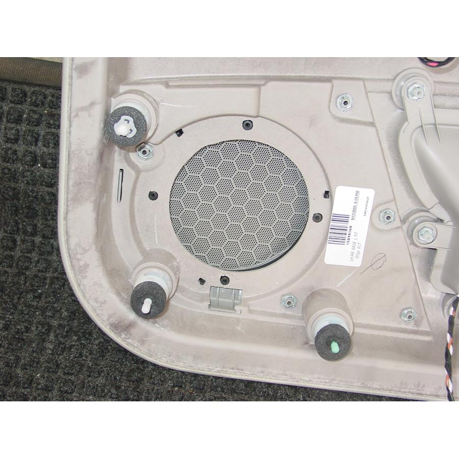 2011 Cadillac DTS Rear door speaker removed