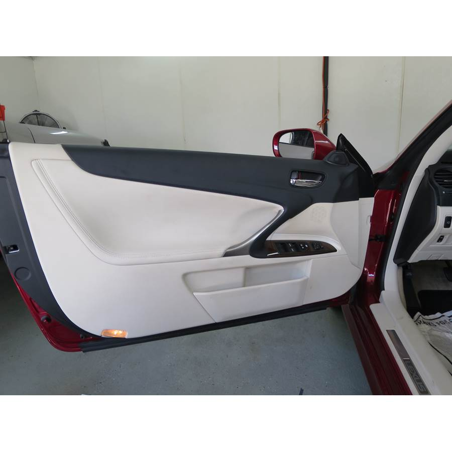 2010 Lexus IS250C Front door speaker location