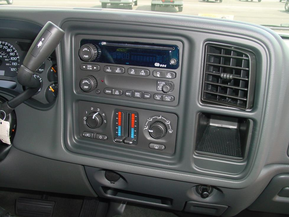 2003-2007 Chevy Silverado and GMC Sierra Crew Cab Car Audio Profile