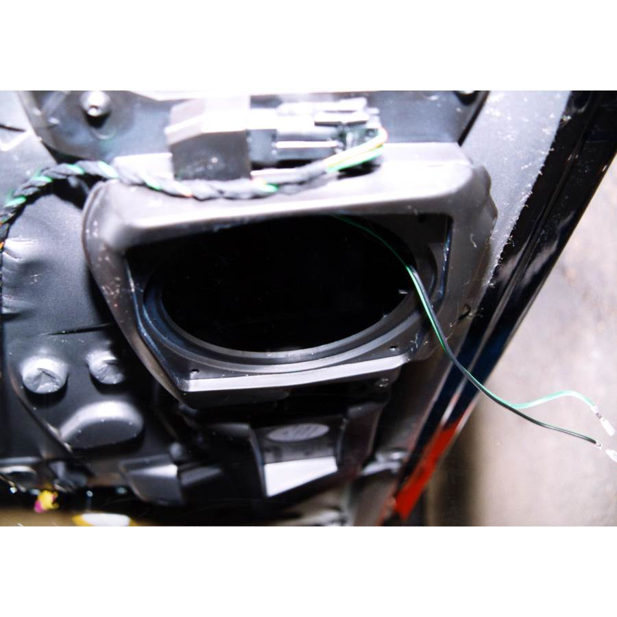 2001 Porsche Boxster Front speaker removed