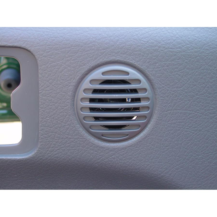 2003 Isuzu Rodeo Sport Front door tweeter location