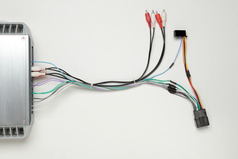 amp wiring connecting your car speakers to an amp use your factory wiring how to hook up a stereo wire harness at panicattacktreatment.co