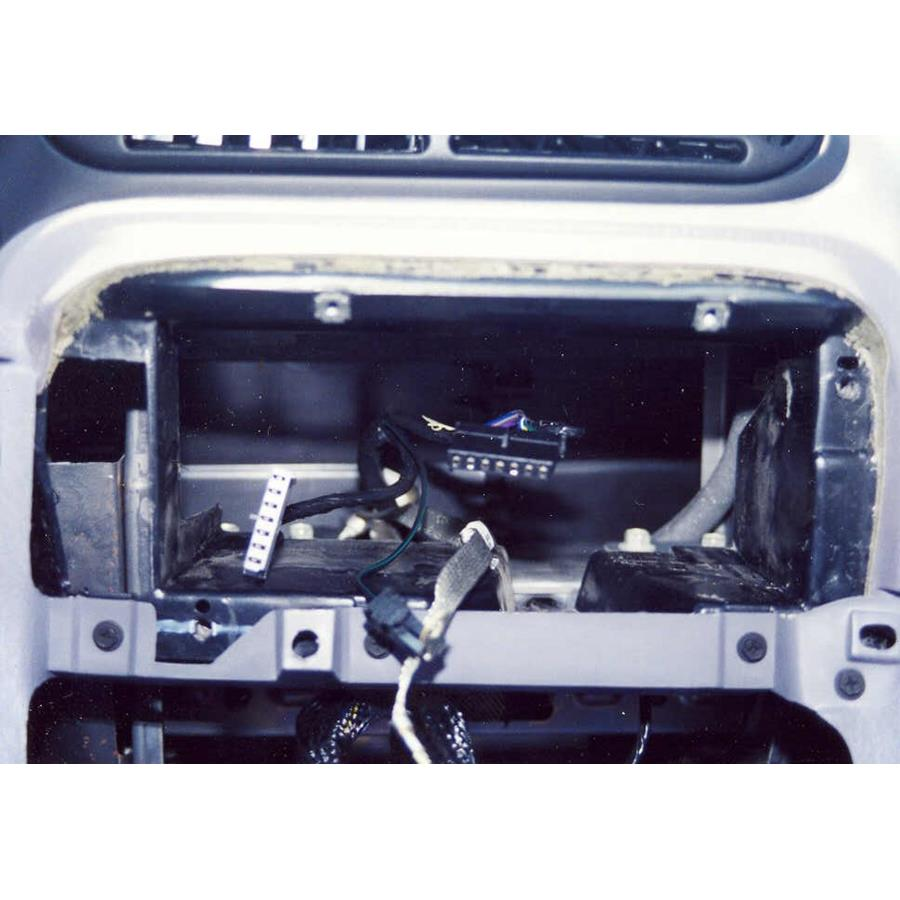2000 Plymouth Voyager Factory radio removed