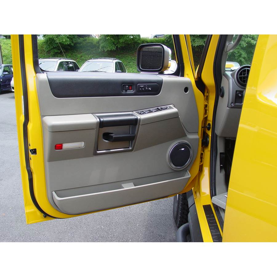 2009 Hummer H2 Front door speaker location