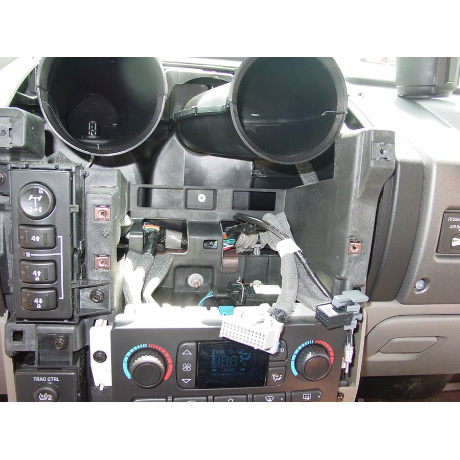 2009 Hummer H2 Factory radio removed