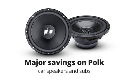 Major savings on Polk db Series car speakers and subs