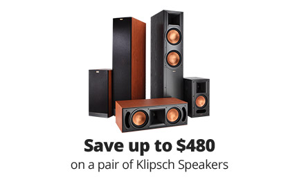 Save up to $480 on a pair of Klipsch speakers