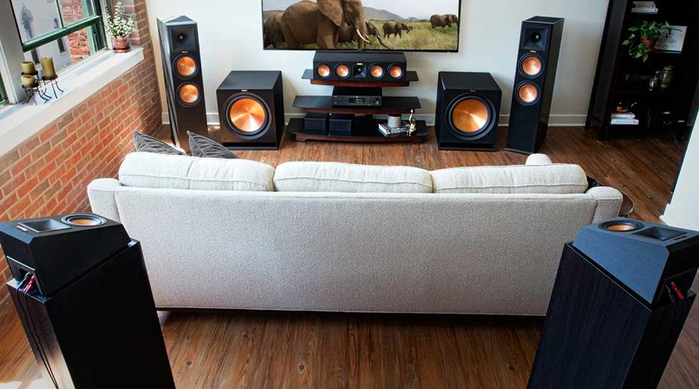 Home theater speaker setup