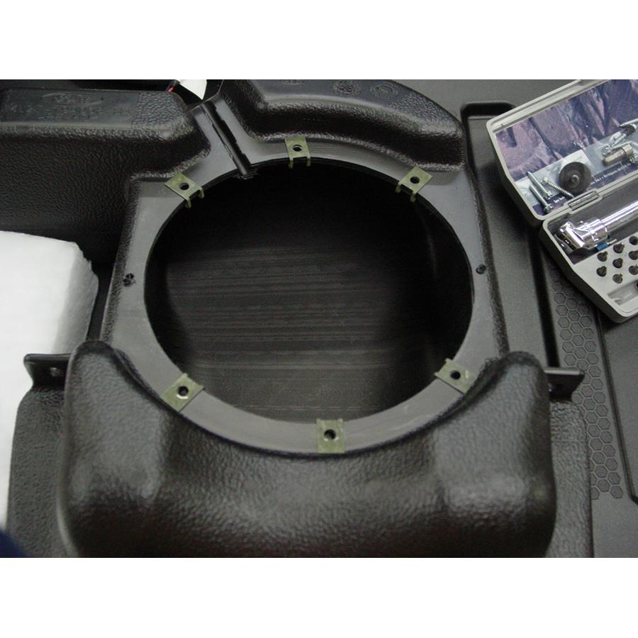 2004 Ford Explorer Sport Trac Far-rear side speaker removed