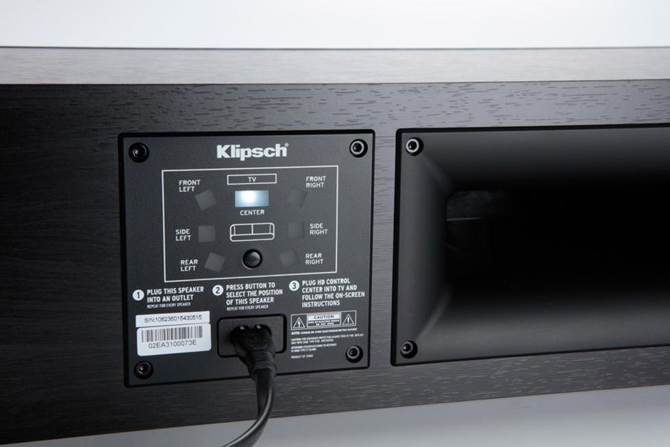 Klipsch Reference Premiere HD center speaker back view
