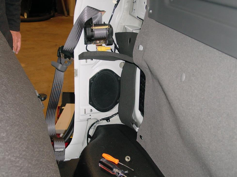 ford f-250 f-350 regular cab rear speaker