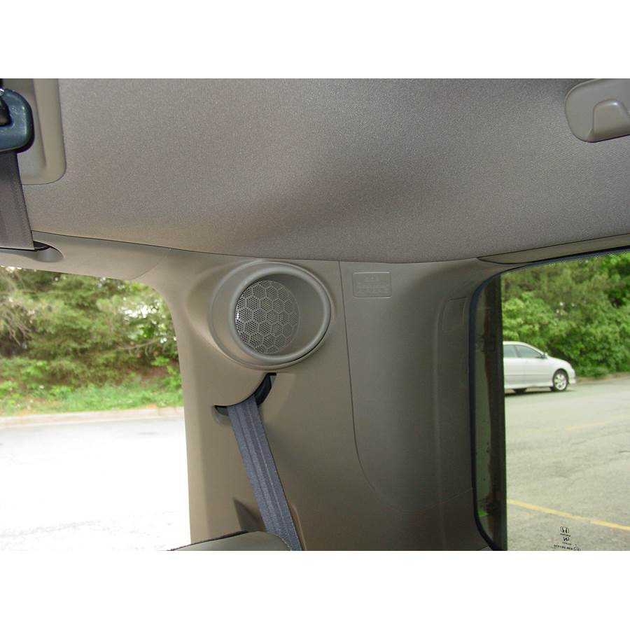 2009 Honda Pilot Rear pillar speaker location