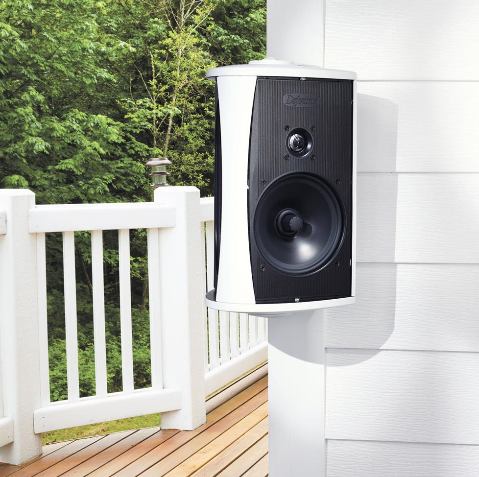 Outdoor speakers system planning guide for Installing in wall speakers on exterior wall