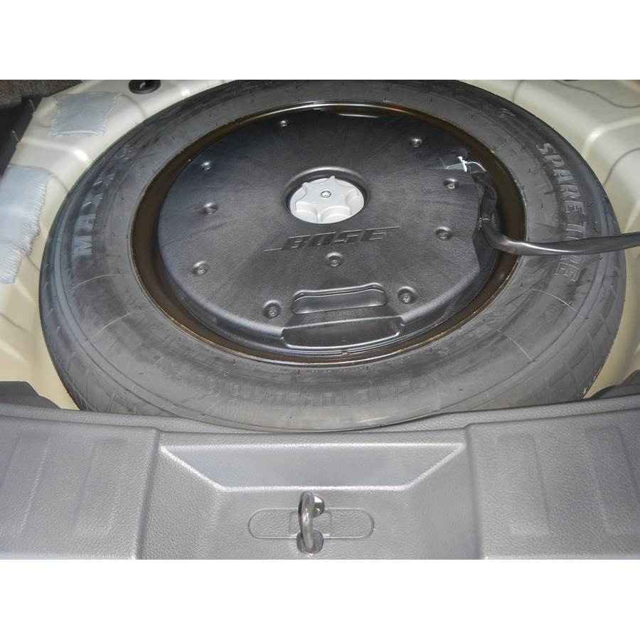 2014 Nissan Rogue Under cargo floor speaker location