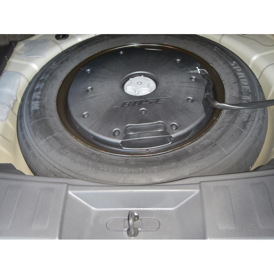 2016 Nissan Rogue Under cargo floor speaker location
