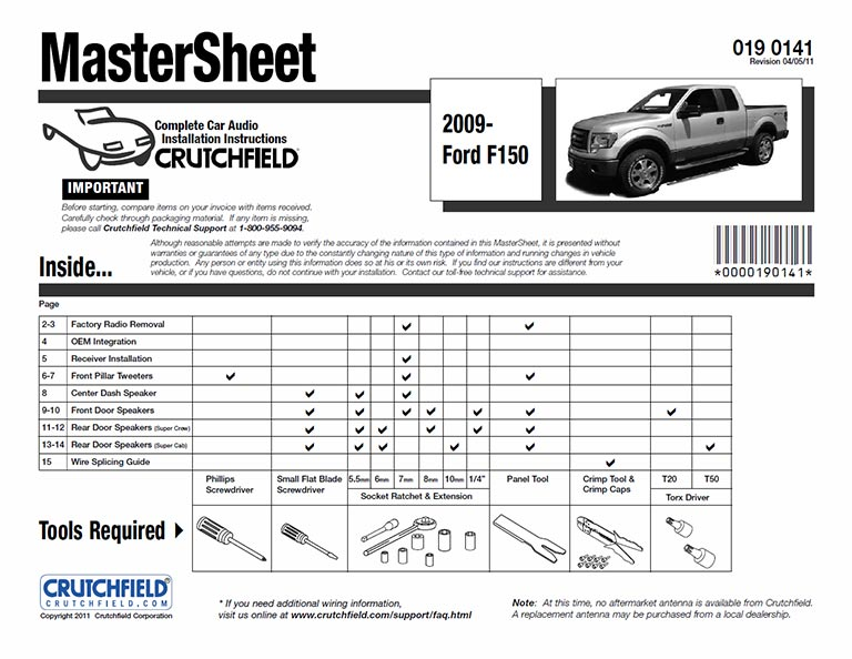 View Sample MasterSheet