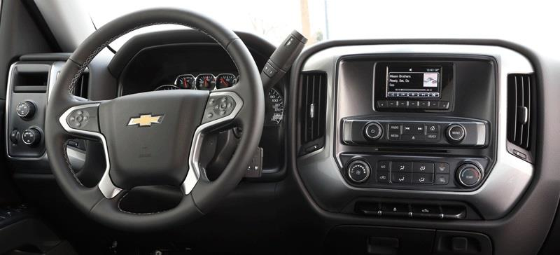 2014 Chevy Silverado dash layout