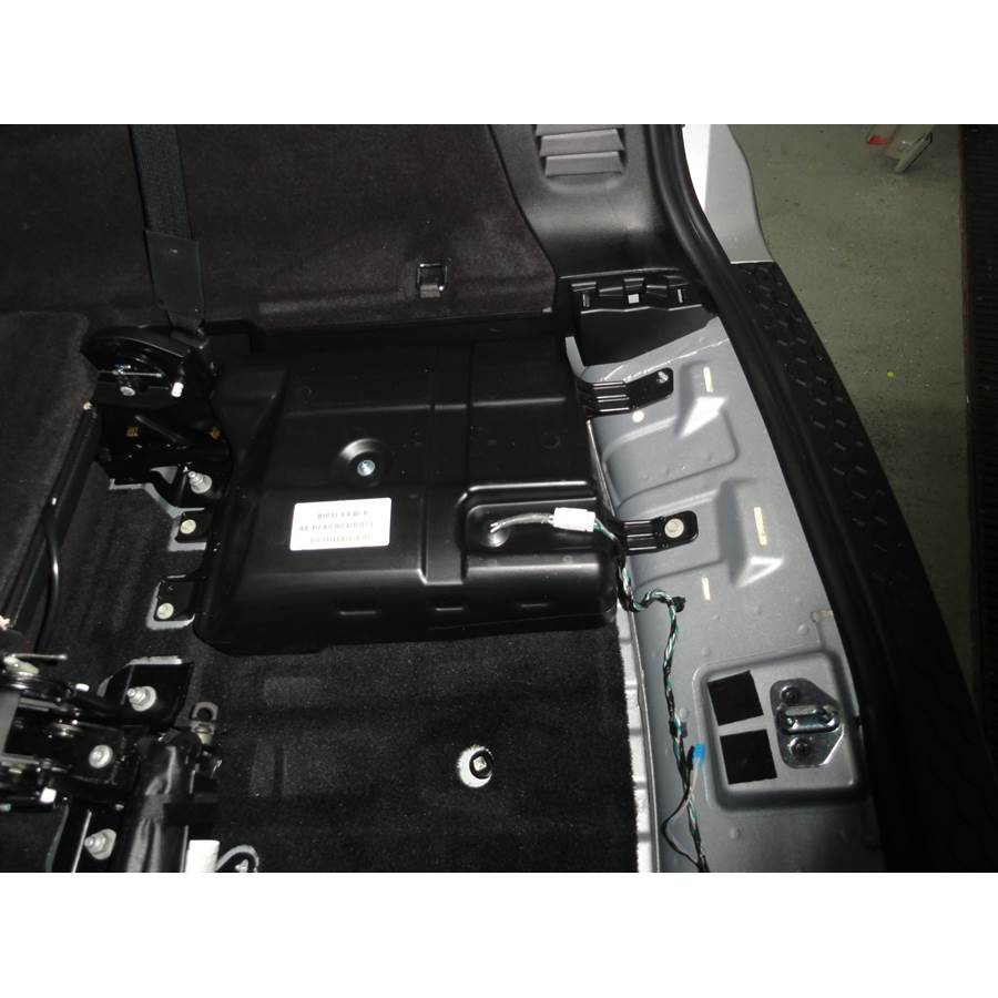 2011 Dodge Durango Under cargo floor speaker location